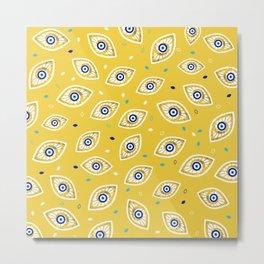 Nazar Eye Amulet pattern #1 Metal Print