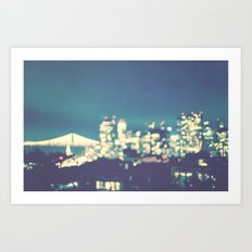 San Francisco Twinkle Art Print