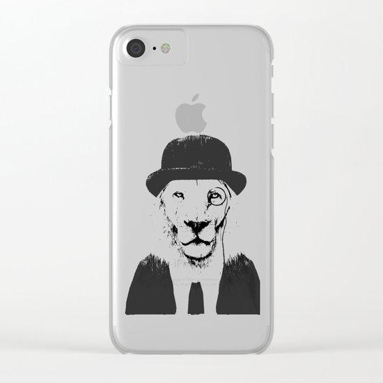 Sir lion Clear iPhone Case