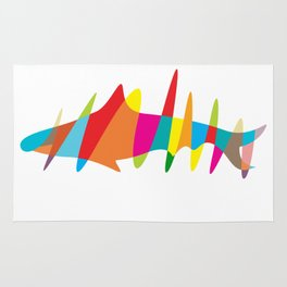 colorful shark Rug