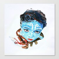 hindu Canvas Prints featuring Hindu Boy by Cristian Blanxer