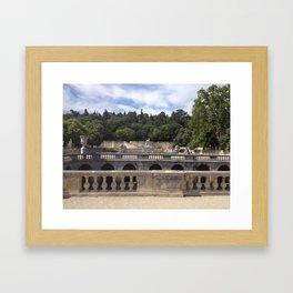 Jardins de la Fontaine Framed Art Print
