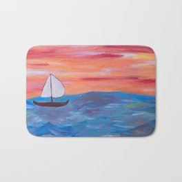 Finding your wave of life Bath Mat