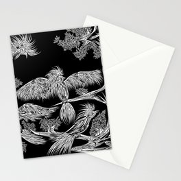 Japanese Birds Inverted Stationery Cards