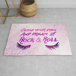 Close Your Eyes And Dream Of Rock And Roll Rug