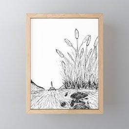 Little Boat in the Reeds Framed Mini Art Print