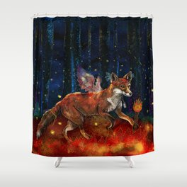 The Origin of Fire Shower Curtain