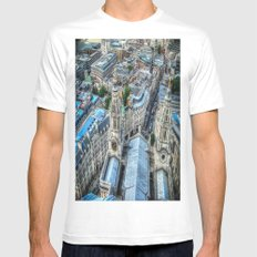 Down, Down, Down White MEDIUM Mens Fitted Tee