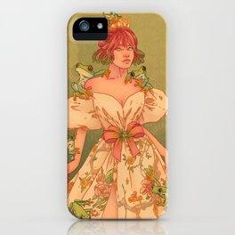 FROG QUEEN (GREEN) iPhone Case