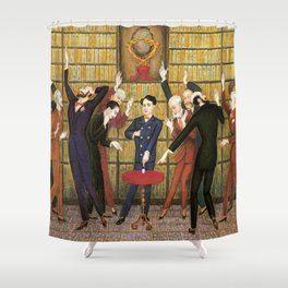 Columbus and the Egg Story; anyone can do anything with the right skill set portrait by Nils Dardel Shower Curtain