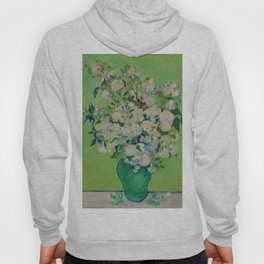 Copy of Vincent van Gogh Roses Floral Green Hoody