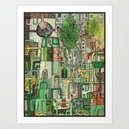 Green Kirkatron Art Print