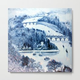 River Porcelain Metal Print