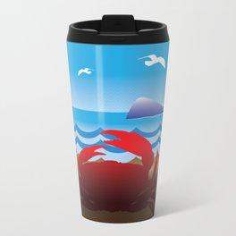 Crab Whale Watch Metal Travel Mug