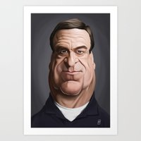 john snow Art Prints featuring Celebrity Sunday ~ John Goodman by rob art | illustration