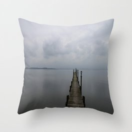 Lake Chiemsee In A Mist Throw Pillow