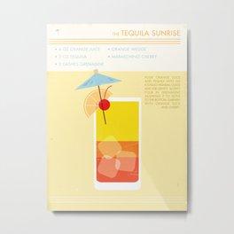 Tequila Sunrise Art Print Metal Print