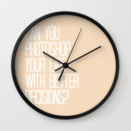PARKS AND REC PHOTOSHOP YOUR LIFE WITH BETTER DECISIONS, JERRY Wall Clock