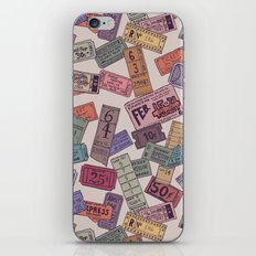 Vintage Tickets iPhone & iPod Skin