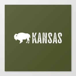 Bison: Kansas Canvas Print