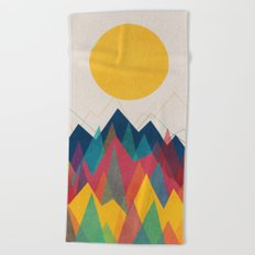 Uphill Battle Beach Towel