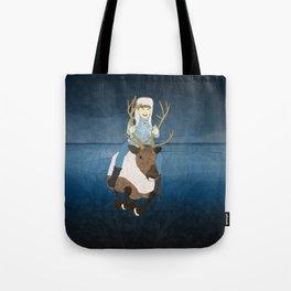 Reindeer Rider Tote Bag