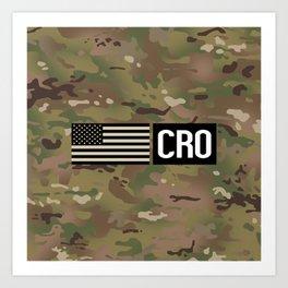 CRO (Camo) Art Print