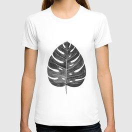 Monstera Leaf | Black and White T-shirt