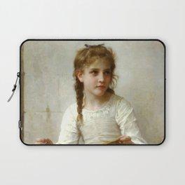 """William-Adolphe Bouguereau """"Sewing"""" Laptop Sleeve"""