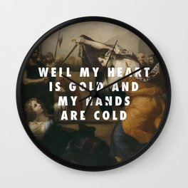 Jusepe de Ribera, Women Gladiators (1636) / Halsey, Gasoline (2015) Wall Clock