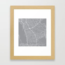 Chula Vista Map, California USA - Pewter Framed Art Print