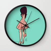 chic Wall Clocks featuring Chic by Hayley Porter