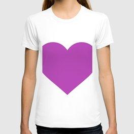 Heart (Purple & White) T-shirt