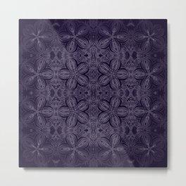 Dark Purple Delicate Flowers Metal Print