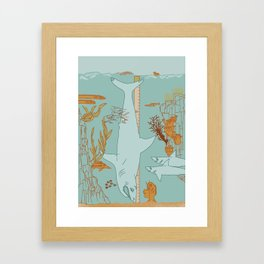Oh boy Framed Art Print