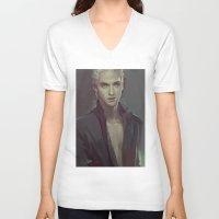 meme V-neck T-shirts featuring MEME 011 Draco by mushroomtale