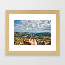 Calabria view Framed Art Print