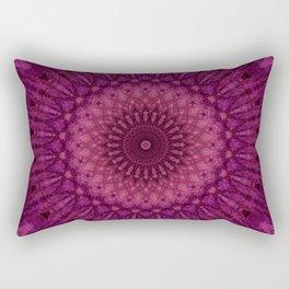 Mandala in pink and dark red tones Rectangular Pillow