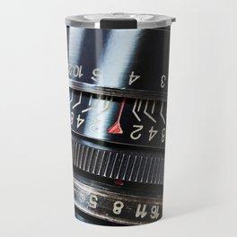 Retro photo slr camera lens Travel Mug