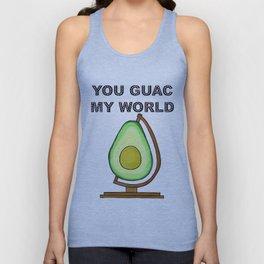 You Guac My World Avocado Pun Unisex Tank Top