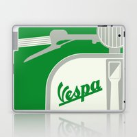 MY VESPA - FROM ITALY WITH LOVE - GREEN Laptop & iPad Skin