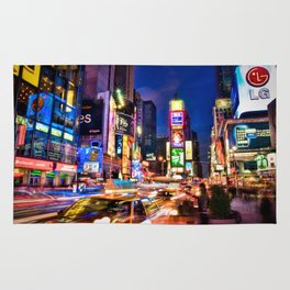 You Will Never Forget: Times Square, New York City Rug