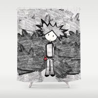 lonely Shower Curtains featuring Lonely by BLOOP