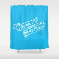 community Shower Curtains featuring Community Impact Fund by think shop