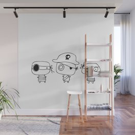 Three pirates, colour yourself Wall Mural