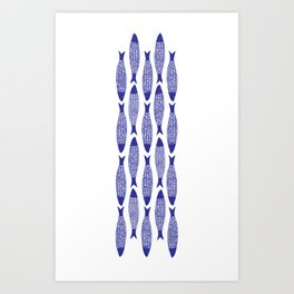 Blå Sild Art Print