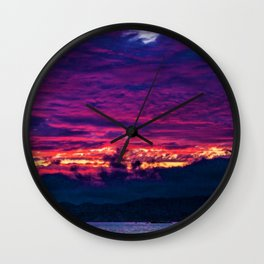 Mount Desert Island, Arcadia Maine Sunset Wall Clock