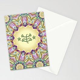 Bahá'i Ring Stone Symbol - Geometric Pattern Stationery Cards