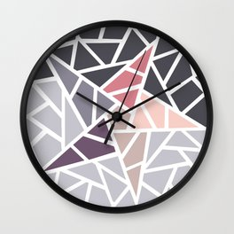 Contemporary Mosaic Star Design Wall Clock