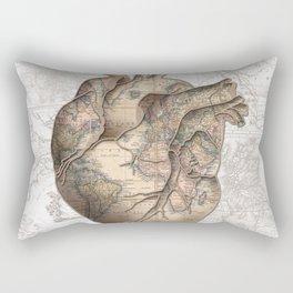 adventure heart-world map 1 Rectangular Pillow